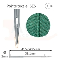 Aiguilles 134-35 SES, DPx35 SES -TEXTILE-