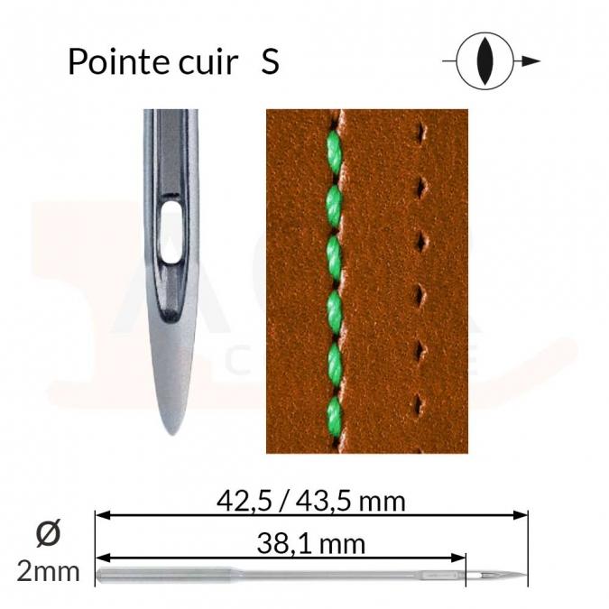 Aiguilles 134-35 S, DPx35 S -CUIR-
