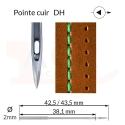 Aiguilles 134-35 DH, DPx35 DH -CUIR-