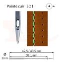 Aiguilles 134-35 SD1, DPx35 SD1 -CUIR-
