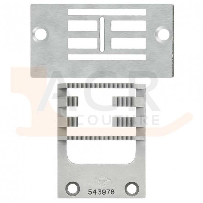 Pack Zig Zag 15mm dents de scie SINGER 20U (Plaque + griffe)