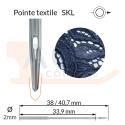 Aiguilles 134 SKL, DPx5 SKL -TEXTILE-