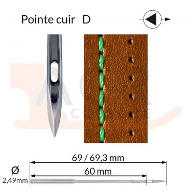 Aiguilles 794D, DYx3D -CUIR-