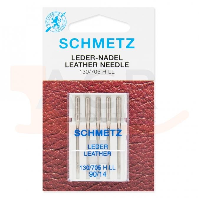 5 Aiguilles CUIR Schmetz (blister)